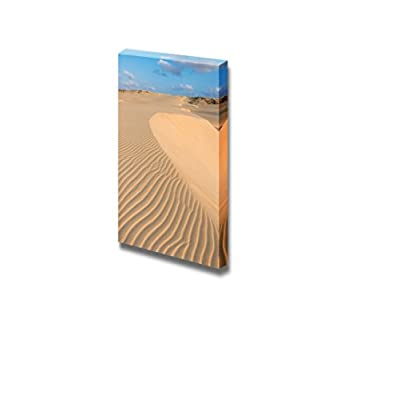 Canvas Prints Wall Art - Beautiful Scenery/Landscape Waves on Sand Dunes in The Desert | Modern Wall Decor/Home Decoration Stretched Gallery Canvas Wrap Giclee Print & Ready to Hang - 48