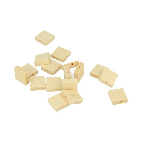 amazon com artemio 30 wood beads square 33 x 15 mm kitchen dining