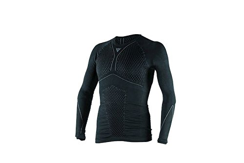 Dainese-D-CORE THERMO TEE LS, Negro/Antracite, Talla M