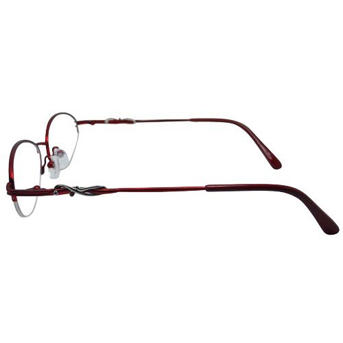 f508948a76 Amazon.com  EyeBuyExpress Bifocal Women Burgundy Oval Half Rim Regular  Hinge Eyewear Reading Glasses  Beauty