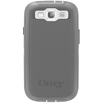 OtterBox Defender Series Case for Samsung Galaxy S III - Retail Packaging - White/Gray
