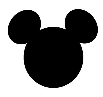 Die Cuts - Disney Mickey Mouse Heads - 5inch 60 pieces -