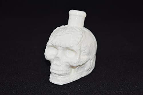 Silbato de la muerte azteca con impresión 3D (blanco): Amazon.es ...