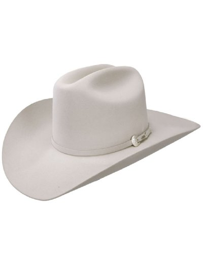 Resistol Men's 6X Midnight Fur Felt Cowboy Hat Silverbelly 7 1/8 by Resistol