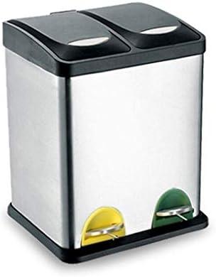 ゴミ袋 ゴミ箱用アクセサリ 分類ゴミ箱環境保護ペダルゴミ箱二重バレルステンレス鋼ウェットとドライゴミ分類バレル(16L / 30L) キッチンゴミ箱 (サイズ : 30L)