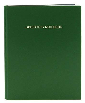 BookFactory Green Lab Notebook/Laboratory Notebook - 96 Pages (.25