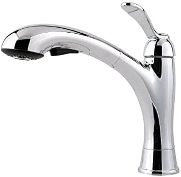 Pfister Gt534 Cms Clairmont One Handle Pull Out Kitchen Faucet Stainless Steel Touch On Kitchen Sink Faucets Amazon Com