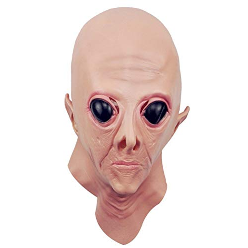 Halloween Creepy UFO Alien Head Mask Cosplay Party Supplies -