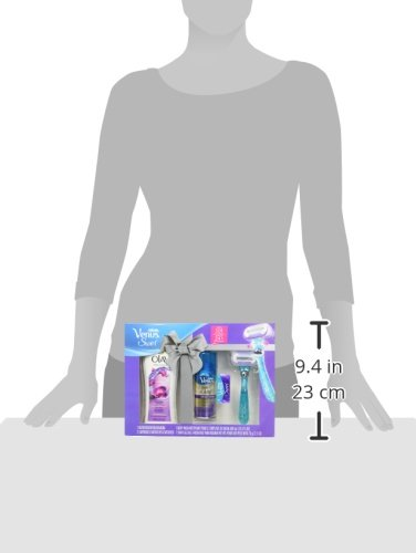 Gillette Venus Swirl and Olay Women's Gift Set (1 Razor, 1 Razor Blade Refill, 1 Body Wash and 1 Shave Gel)