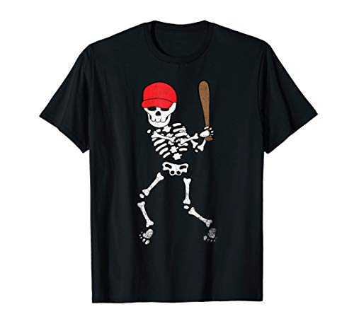 Skeleton Baseball Shirt Halloween Softball Player