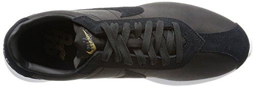 Nike - Zapatillas de Piel para hombre black white metallic gold 001