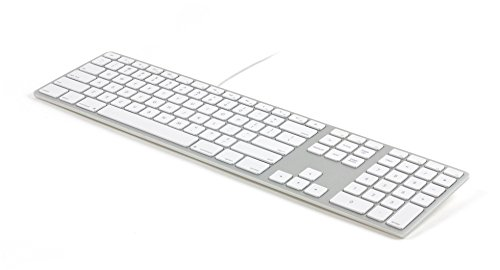 Price comparison product image Matias FK318S USB Wired Aluminum Keyboard with Numeric Keypad and Built-in 2-Port Hi-Speed USB 2.0 Hub - Compatible with Mac (Silver)