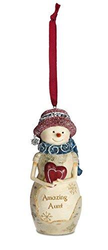 Pavilion Gift Company 81127 Aunt Snowman Figurine Ornament, 4