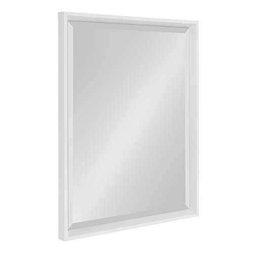 Kate and Laurel Calter Framed Wall Mirror, 19.5×25.5, White
