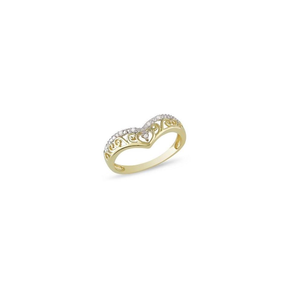 10K Yellow Gold Diamond Ring Jewelry