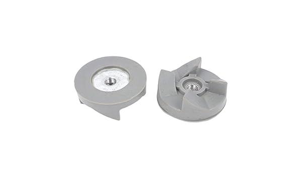 Acoplamiento de goma Blender embrague engranaje 4 dientes de 30 mm Dia 2pcs Gray: Amazon.es