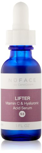 NuFACE Lifter Vitamin C & Hyaluronic Acid Serum | Nourishing, Smoothing, and Lifting | Reduce Wrinkles, Tone Face, Rejuvenate Skin | 1 fl. oz.