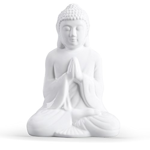 FORLONG Buddha Statue/Idol/Decorative Figurine Praying Buddha Statue White