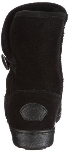 Button Pug Side Da Stivale black Donna Boot Classic Minnetonka Nero xwA5RBqFw