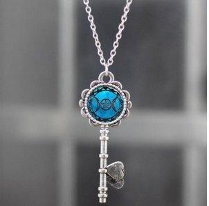 Goddess Locket (Triple Moon Goddess Pendant Key Triple Moon Goddess Necklace Locket Triple Moon Goddess Jewelry Key Triple Moon Goddess Charm, Silver)