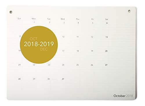 "Elegant Desk Calendar 2019 · Large Monthly Desk or Wall Calendar · 17.8"" x 13"" · Academic Blotter Pad Planner · Notepad for Office, Home, Work and Teacher (Ruled)"