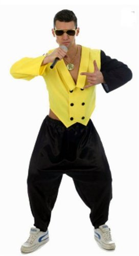 Mens 80s 90s Rap King Rapper DJ MC Hammer Fancy Dress Costume M/L by Star55