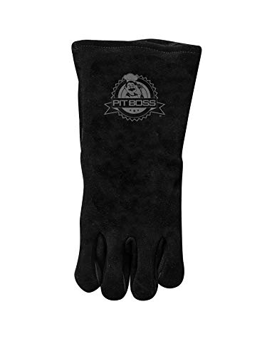 Heavy Duty Leather Gloves, Black - Pit Boss 68015