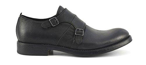 CAFèNOIR Cafè Noir CAF NOIR RH102 schwarze Schuhe Mann Derby klassisch elegante Lederschnallen Nero