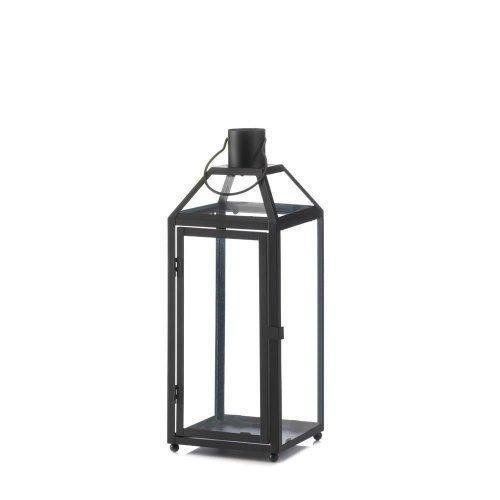 Sunrise Wholesale Merchandise Home Locomotion Midtown Black Medium Decorative Candle Lantern -