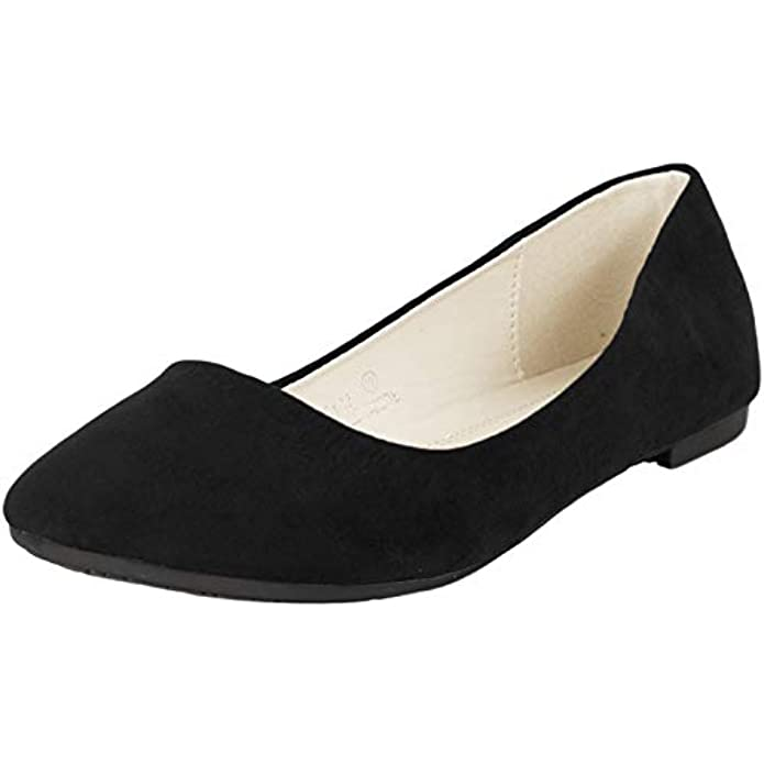 Bella Marie Stacy Women's Round Toe Slip On Classic Ballet Flats Shoes