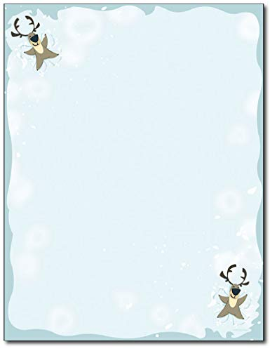(Reindeer Snow Angel Christmas Holiday Stationery - 80 Sheets)