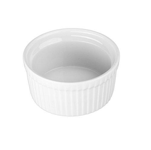 BIA Cordon Bleu (Set of 4) - 8 oz. Porcelain Ramekins White Bowls 8 ounce by BIA Cordon Bleu (Image #1)