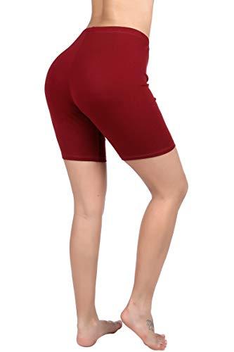PINKPHOENIXFLY Thigh Stretch Cotton Span High Waist Active Short Leggings