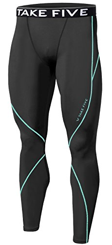 New Men Sports Apparel Skin Tights Compression Base Under Layer Long Pants (S, NP506 DEEP GRAY)