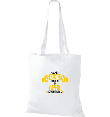 Tela Tienen April Verdadero Leyendas De En El Shirtstown Cumpleaños Blanco Bolsa xwq8Ca