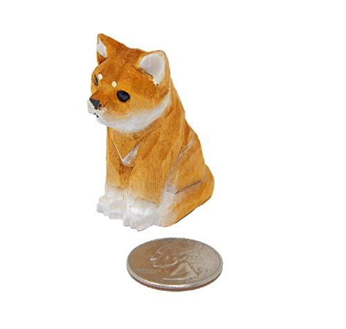 Wooden Carving - Shiba Inu Dog Figurine - Small 2