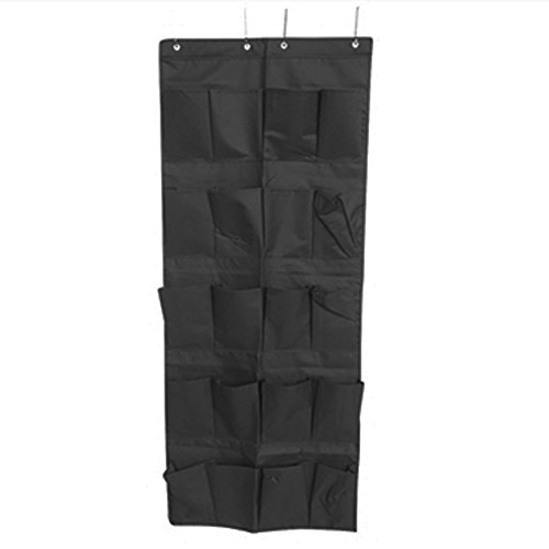 Hanging Over-The-Door Shoe Pockets - TUSK College Storage - Black by DormCo