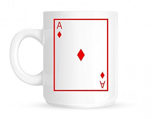 Ace Of Diamonds Coffee Mug White