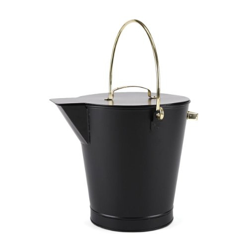 Woodeze 5MM-ASH-0 Black Ash Bucket (Brass Coal Hod)