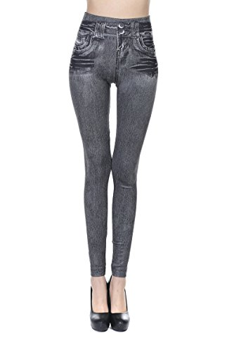 Beauty GO - Jeans - Skinny - Femme XL Gris