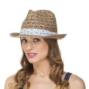 fe77b13a8fdf26 Ladies Womens Spring Summer Open Weave Trilby Sun Hat LS14009 ...