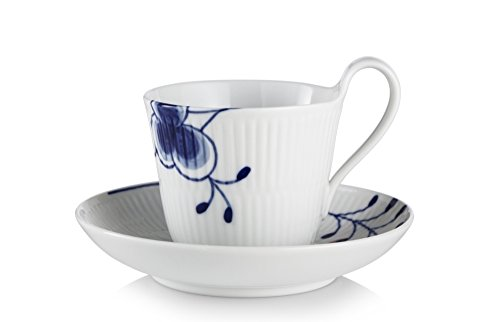 Blue Fluted Mega 8.5 oz. High Handle Cup and ()