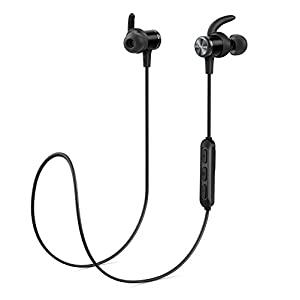 Bluetooth Headphones, Soundcore Spirit Sports Earphones by Anker, with Wireless Bluetooth 5.0, 8-Hour Battery, IPX7 SweatGuard Technology, Secure Fit for Sport and Workouts, Earbuds with Mic