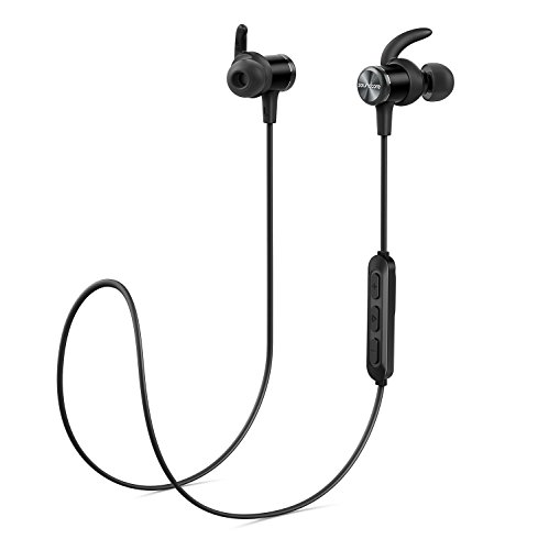 Bluetooth Headphones, Soundcore Spirit Sports Earbuds by Anker, Bluetooth 5.0, 8H Battery, IPX7 Waterproof, SweatGuard, Foam Tips, Comfortable Wireless Headphones, Secure Fit for Running, Gym, Workout