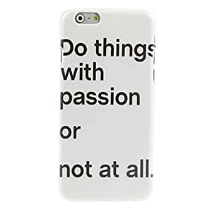 Not At All Design Hard Case for iPhone 6