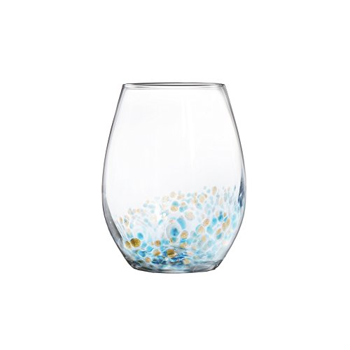 Fitz and Floyd 229568-4ST Callie Stemless Goblets, Blue by Fitz and Floyd (Image #2)