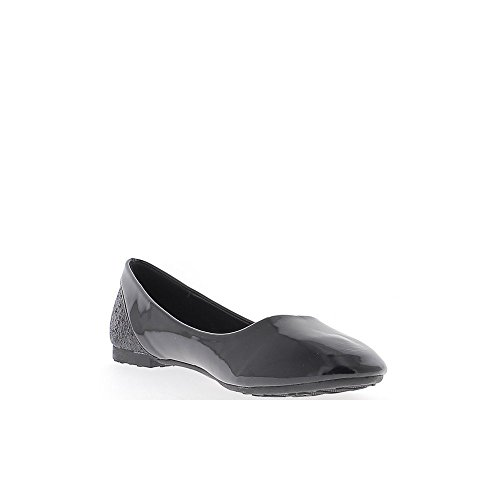 ChaussMoi Black Ballerinas Painted with Twill Tape 1 cm and Back Glittery eJUuH9Kh5