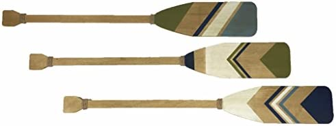 Extra Large Wood and Rope Boat Oars Wall Decor, Set of 5: Buy