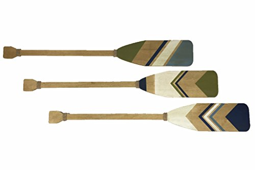 Extra Large Wood and Rope Boat Oars Wall Decor, Set of 3