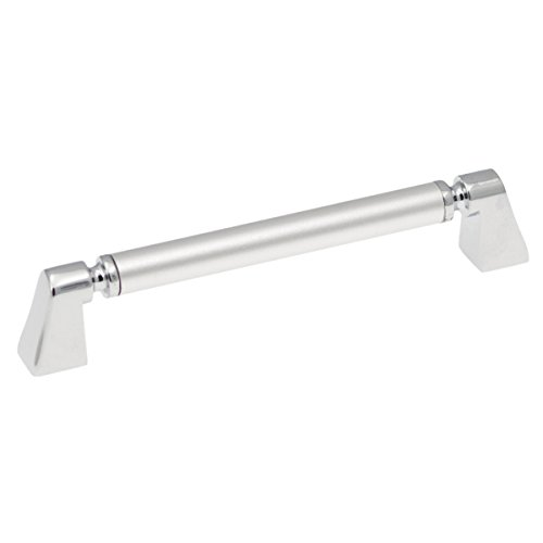 Hickory Hardware P3698-FCH Dew Cabinet Pull, 5.3937-Inch, Frosted Chrome (Frosted Knobs Cabinet Drawer)